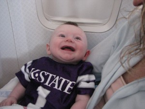 Here I am on the plane headed to LA.  Mommy is keeping me very happy.   Not that I was scared or anything...