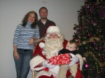 A nice pic with the family, Santa and my present